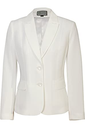 Busy Clothing Womens Light Cream / Off White Suit Jacket: Amazon ...