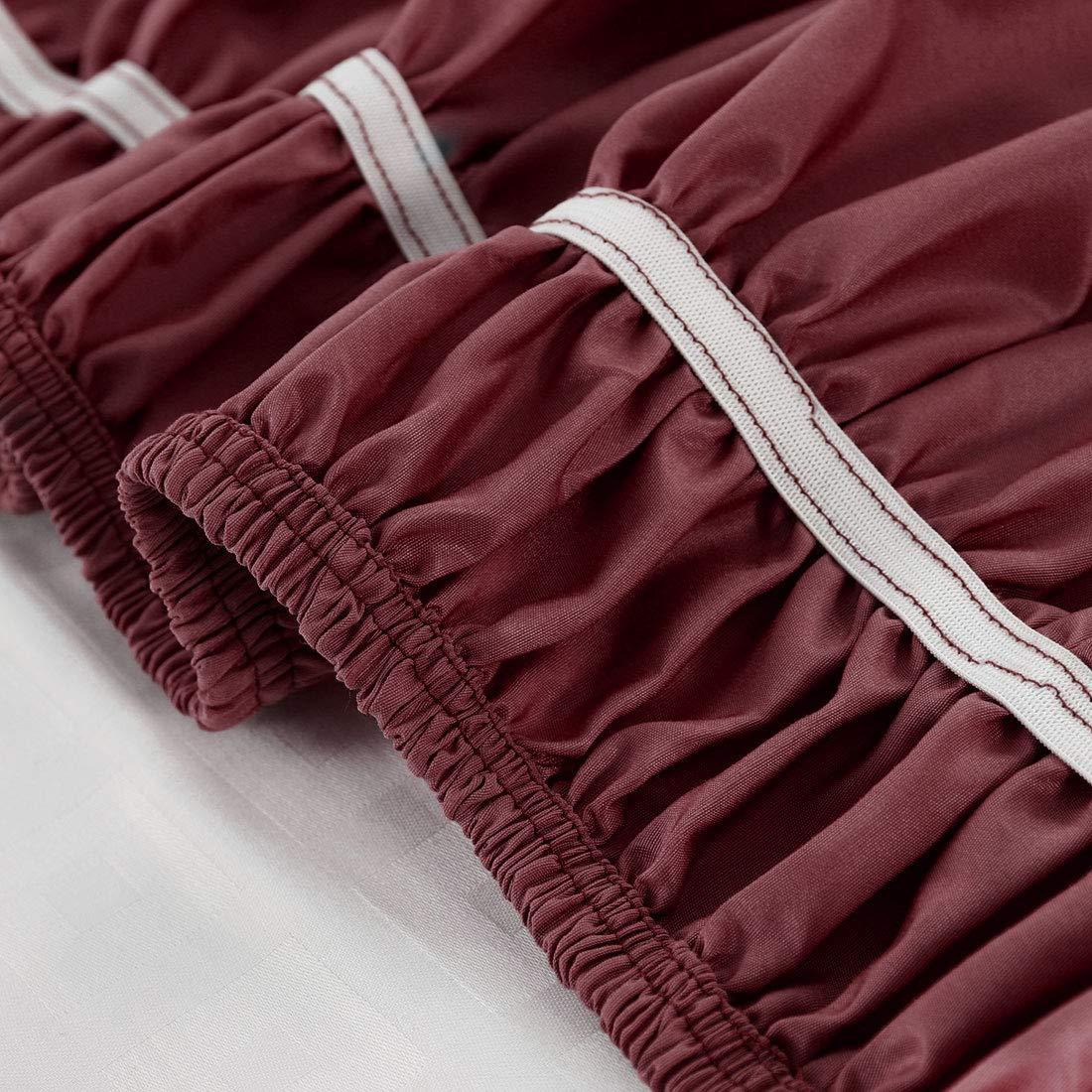 /avec 38,1/cm de Hauteur Piccocasa bross/é Polyester Base Tour de lit en Tissu de Trois c/ôt/és /élastique poussi/ère /à Volants/ Super King: 78 x 80 inch Violet Clair
