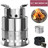 SOLEADER Portable Wood Burning Camp Stoves Compact Gasifier Wood Stove For Camping, Hiking, Backpacking The 3rd Generation