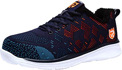 Women/'s Work Boots Steel Toe Safety Shoes Reflective Lightweight Mesh Sneakers T