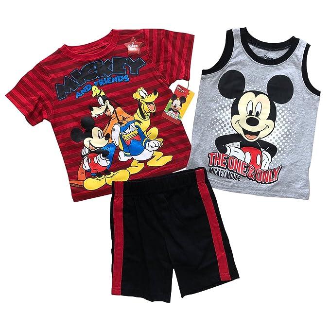 4a4b8d44b4 Disney Mickey & Friends 3 Pieces Summer Boys Clothing Set | 100% Cotton  (12m- 4T)