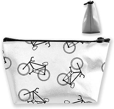 Bolsa de Maquillaje con diseño de Icono de Bicicleta, Organizador de Maquillaje Trapezoidal para Viaje: Amazon.es: Equipaje
