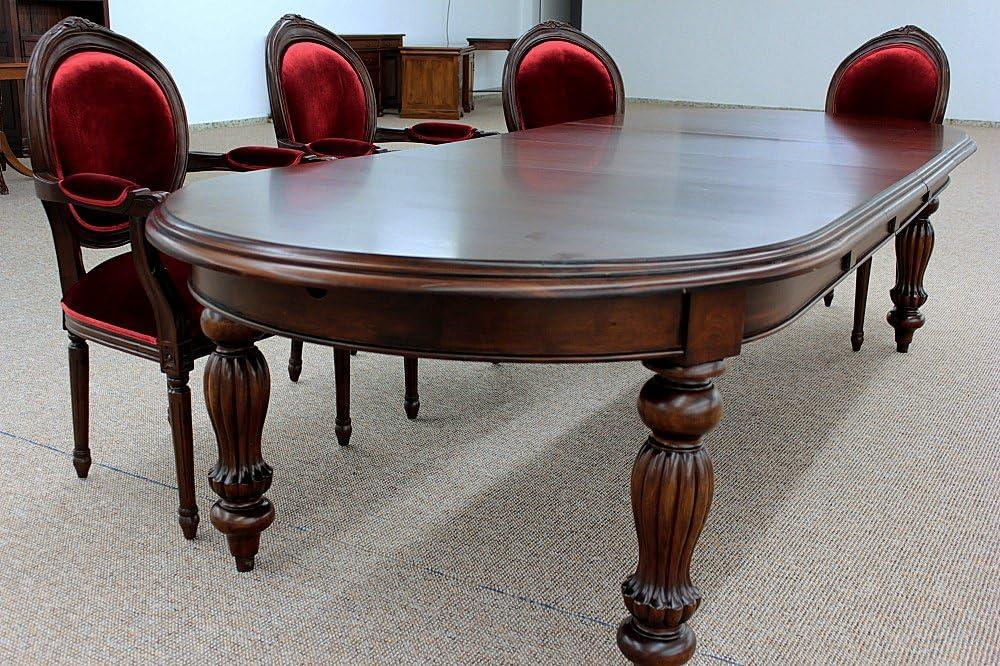 Esstisch Tisch rund massiv Mahagoni premium Qualität 125 cm