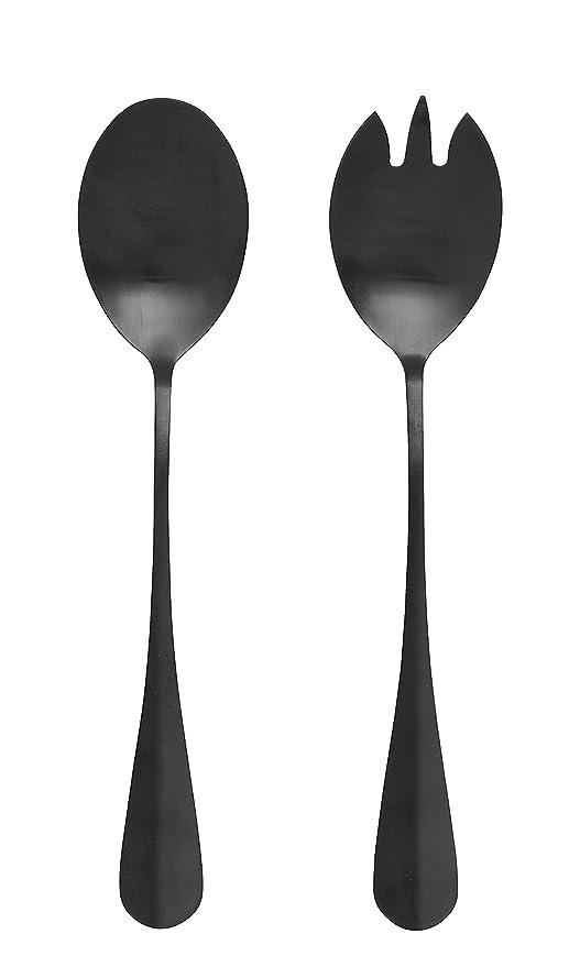 Nordal – Cubiertos para ensalada Black