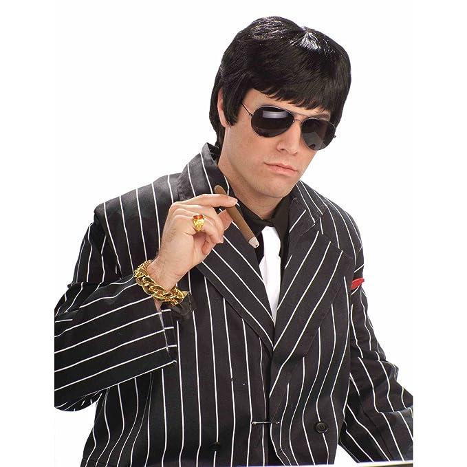 Adulto de chico duro Negro peluca Tony Montana Scarface de Al Pacino mafioso Mob 80: Amazon.es: Ropa y accesorios