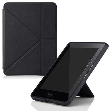 a3b286c249955 Capa Case Kindle Voyage WB® Auto Liga Desliga - Origami Preta ...