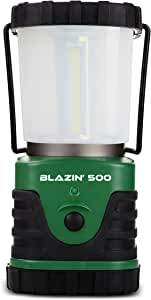 Brightest LED Camping & Hurricane Lantern - Battery Operated - 500 Lumen - Runs Up to Six Days Continuously