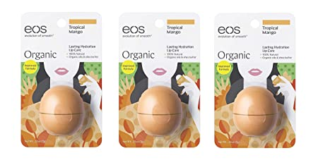 Tropical Mango Organic Lip Balm Pack of 3