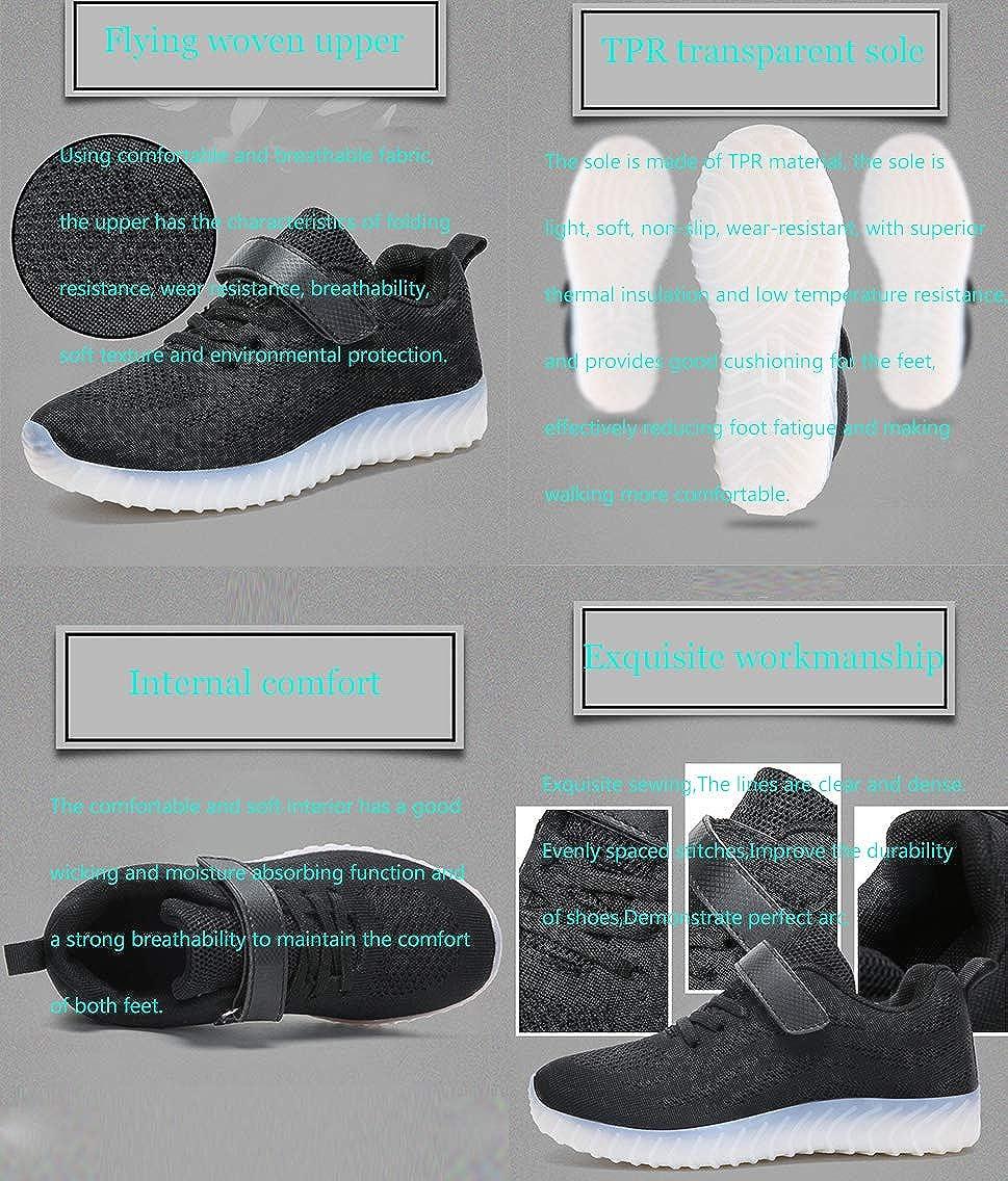 QJRRX Boy Girls Light up Shoes Led Flashing Fashion Sneaker Kids Toldder