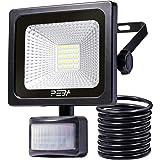 10W Security Light with PIR Motion Sensor, PEBA IP66 Waterproof LED Flood Light, Super Bright 1000lm, Outdoor Light for Garden, Courtyard and Car Park [Energy Class A++] [Energy Class A++]