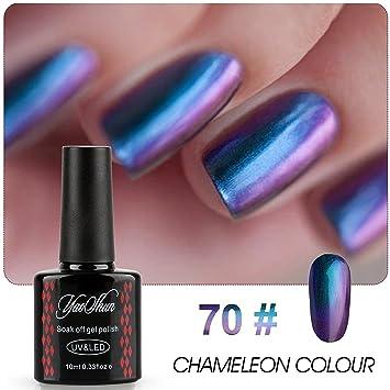 Y & S Chameleon – Cambio de color Gel de uñas Laca metálico color barniz UV. Pasa ...