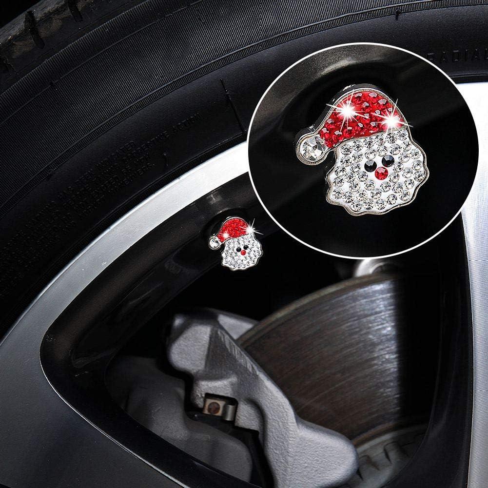 ATMOMO Black Crystal Paw Tire Valve Caps Bling Handmade Rhinestone Tire Valve Dust Caps Tire Rim Valve Stem Caps