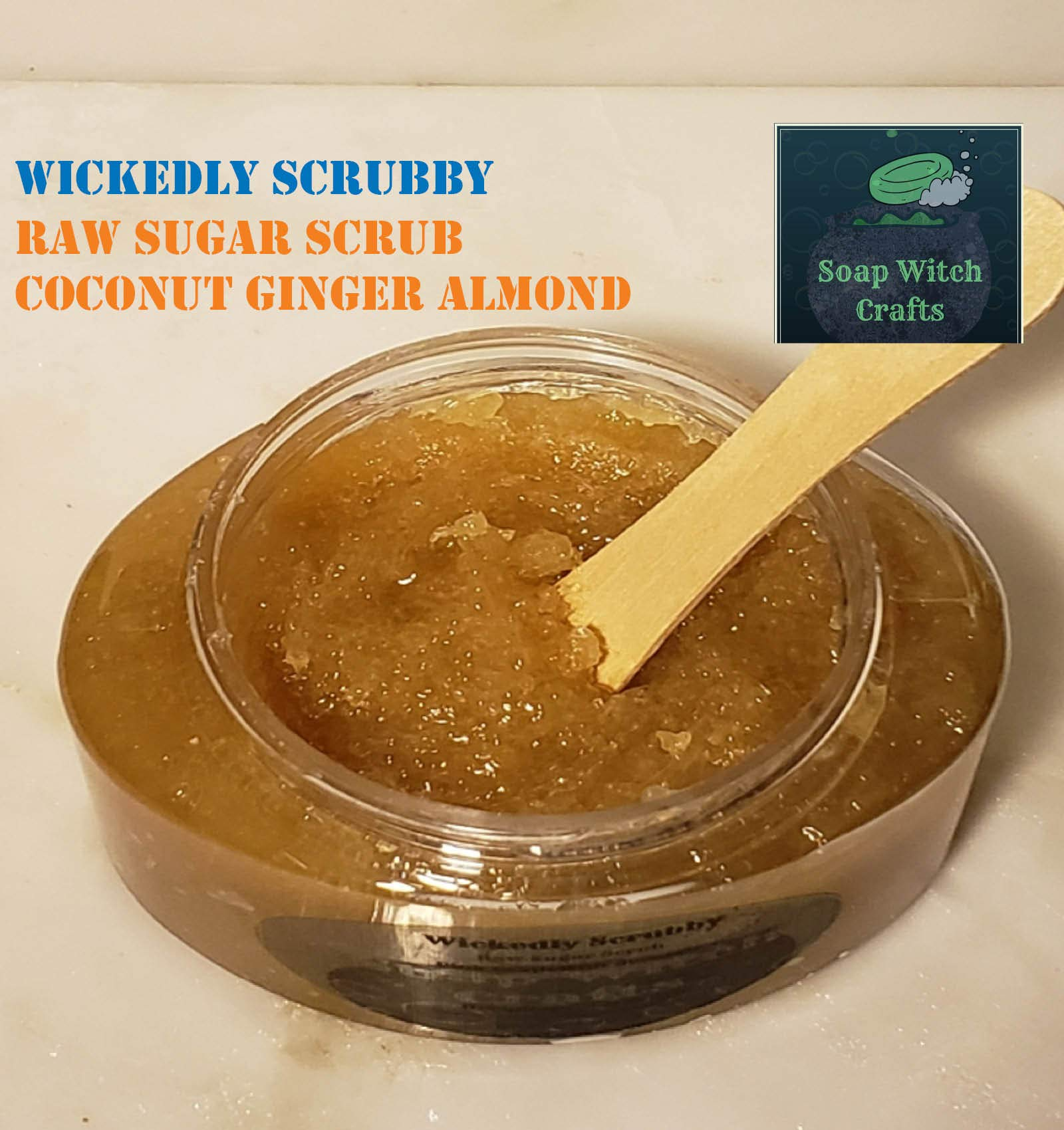 Wickedly Scrubby Raw Sugar Scrubs - Coconut Ginger Almond by Soap Witch Crafts