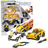 Modarri Delux S1 Stinger Car Build Your Car Kit Toy Set - Ultimate Toy Car: Make Your Own Car Toy - For Thousands of Designs - Real Steering and Suspension - Educational Take Apart Toy Vehicle