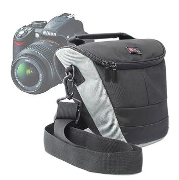 DURAGADGET Nílon Funda Portatíl para Nikon D5000, D3100 con Correa ...
