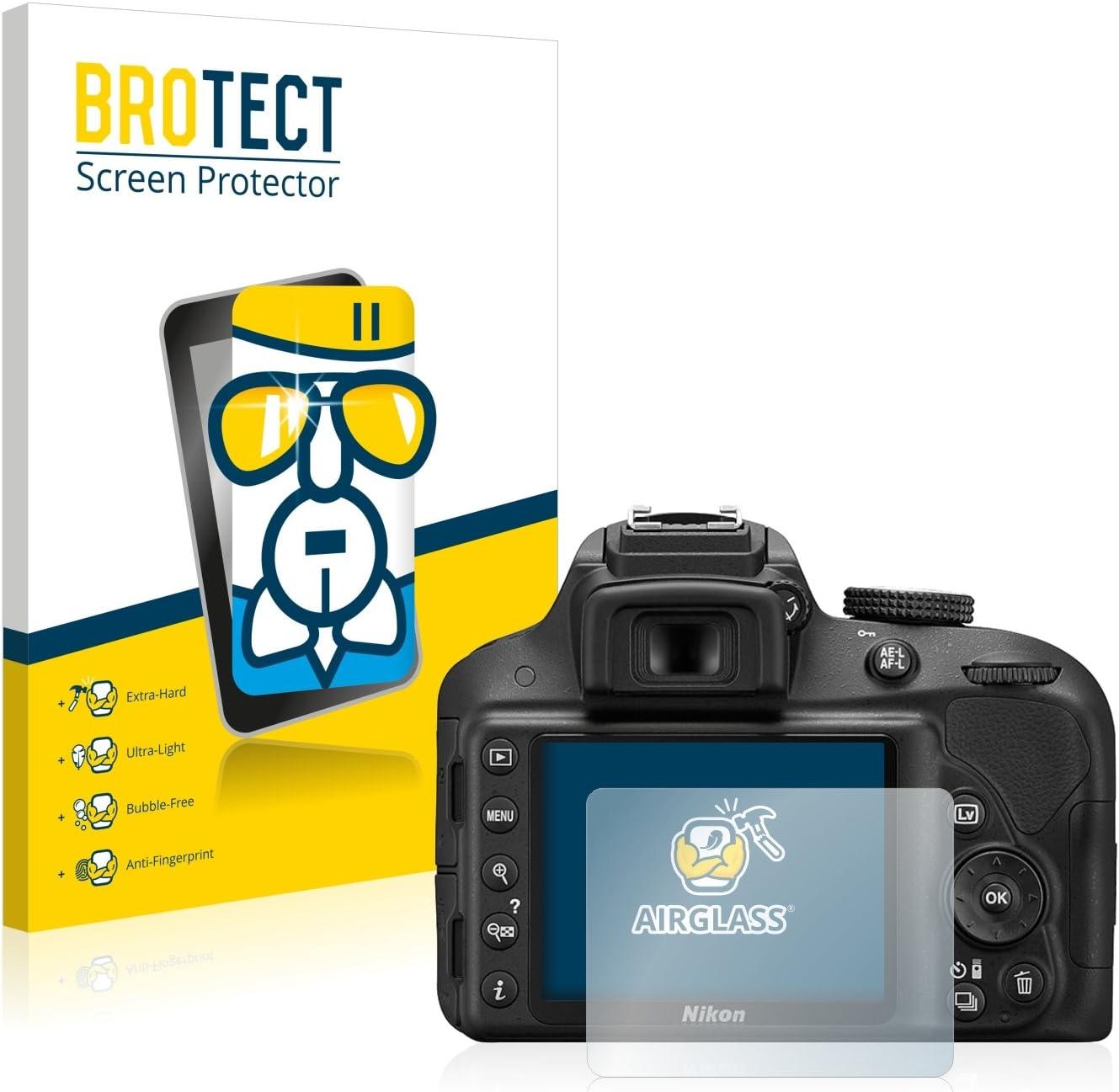 BROTECT Protector Pantalla Cristal Compatible con Nikon D3300 ...