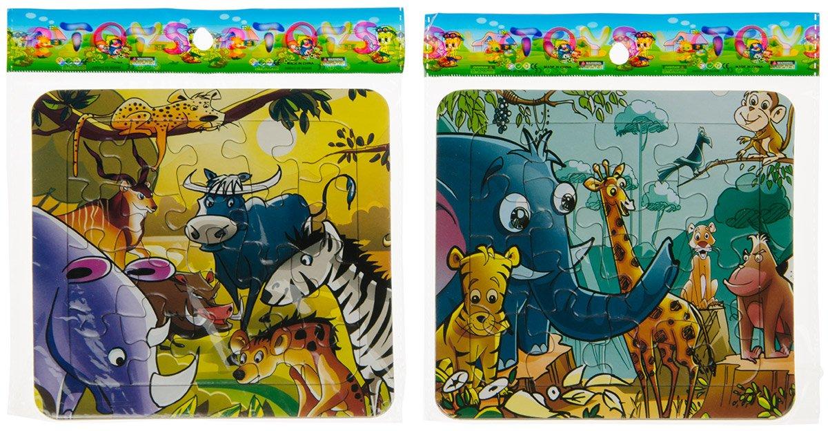 Wilde Tiere Mitgebsel Puzzles Puzzle Dschungelmotive 14 x 14 cm 16 tlg Spielzeug & Modellbau (Posten)