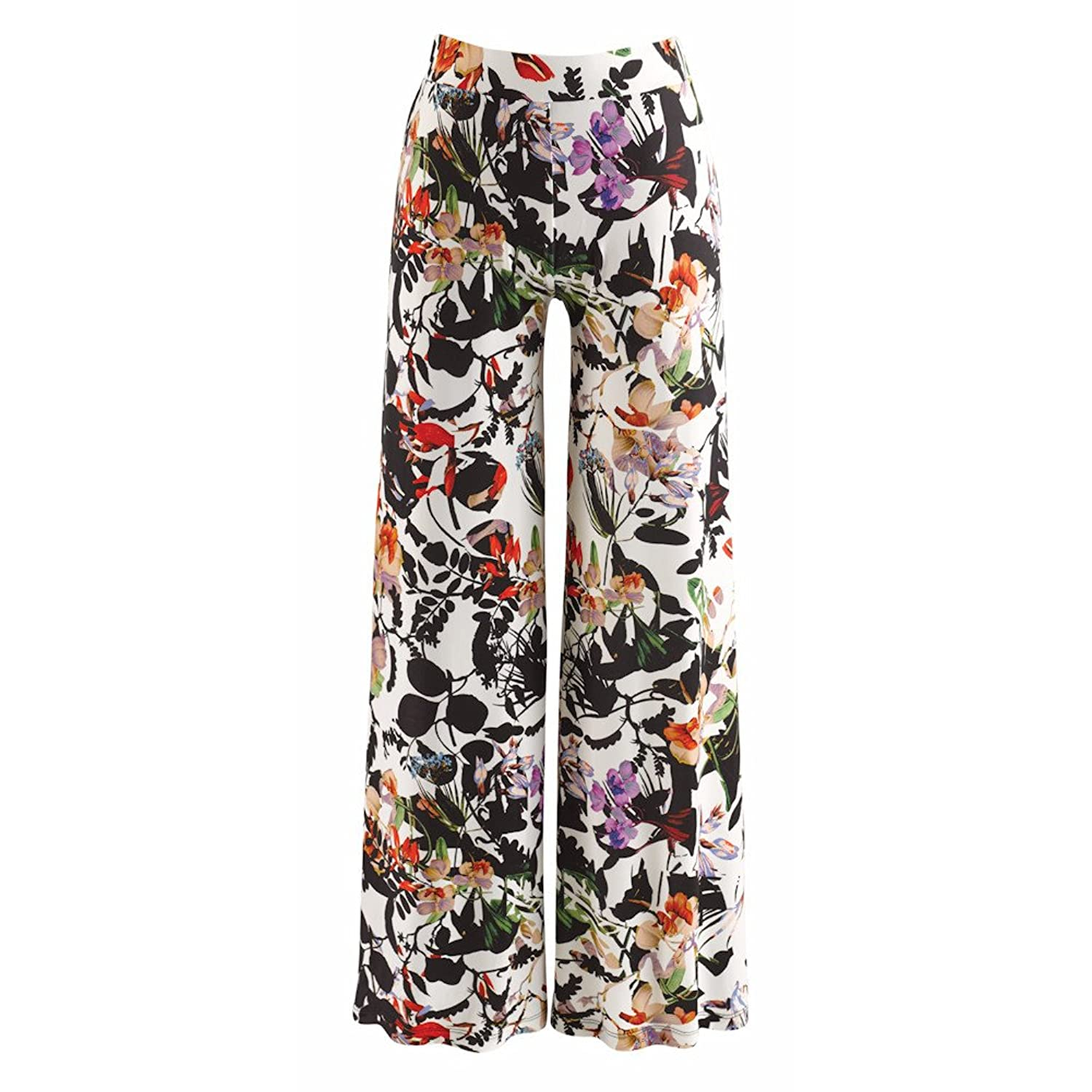 Women's Broken Flower Printed Wide-Leg Palazzo Pants