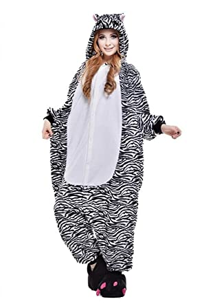 Riqueza Unisex Cebra año nuevo Animal Dormir Pijama Disfraz ...