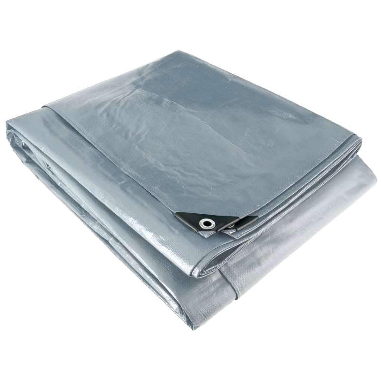 Lona multiusos 200 g//m/², 4 x 3 m color gris y negro Werkapro 2