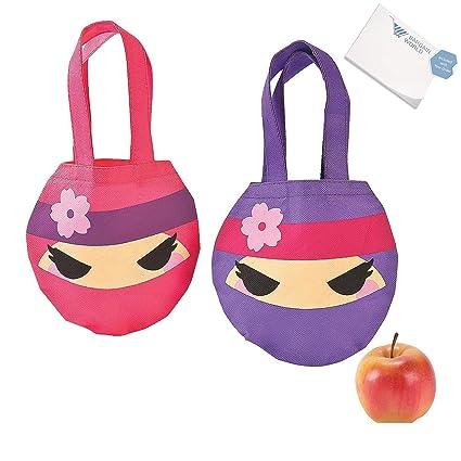 Amazon.com: Bargain World Mini Ninja Girl Tote Bags (With ...