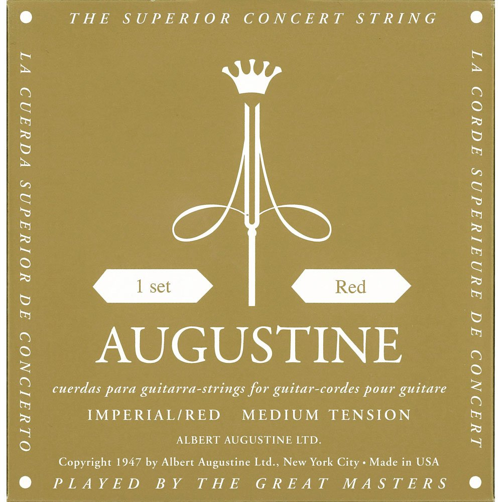 AUGUSTINE IMPERIAL-RED MEDIUM TENSION CLASSICAL GUITAR STRINGS KMC Music Inc AUGIMPRED