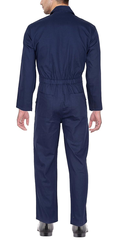 cd068bddc0b Club 21 Men s Cotton Boiler Suit for Industrial Use (Navy Blue ...