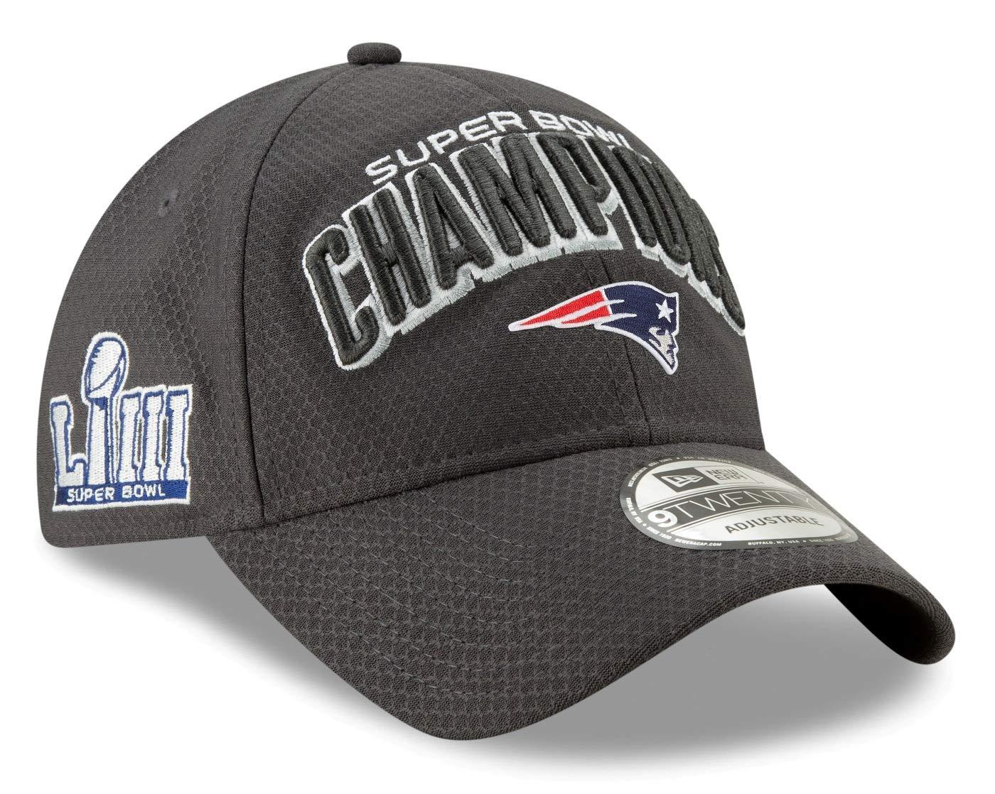 318064448ac9 Amazon.com   New Era New England Patriots Super Bowl LIII Champions Parade  9Twenty Snapback Adjustable Hat - Graphite   Sports   Outdoors