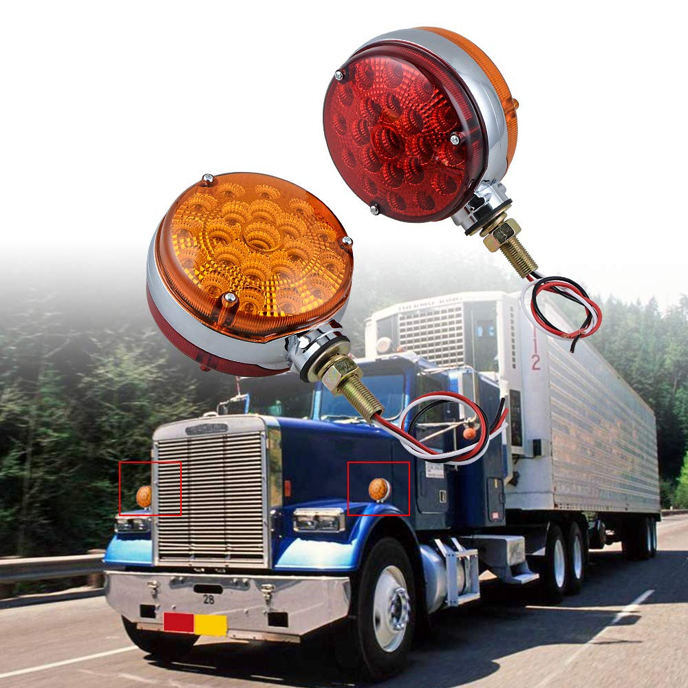 Amazon.com: 2 luces de intermitente reflectantes de doble ...