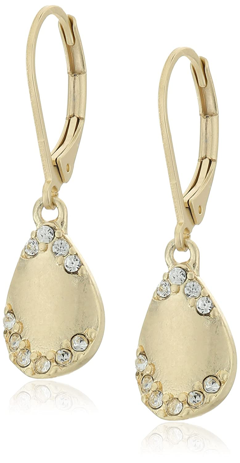 "Amazon.com: Carolee ""Riverside Park"" Riverside Park Petal Pierced Drop  Earrings: Jewelry"