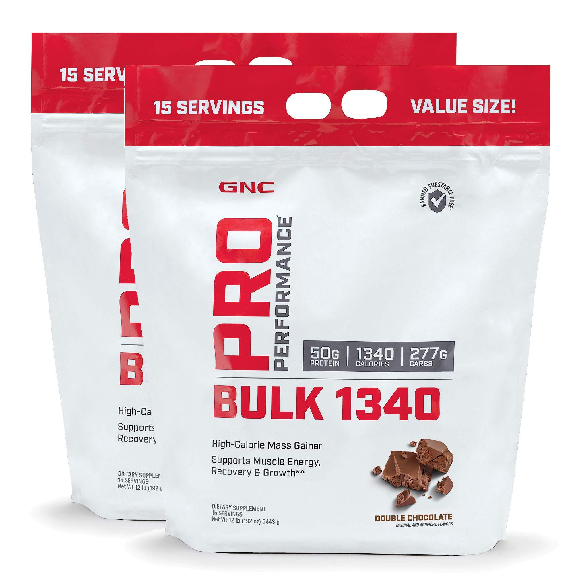 GNC Pro Performance Bulk 1340 - Double Chocolate - Twin Pack