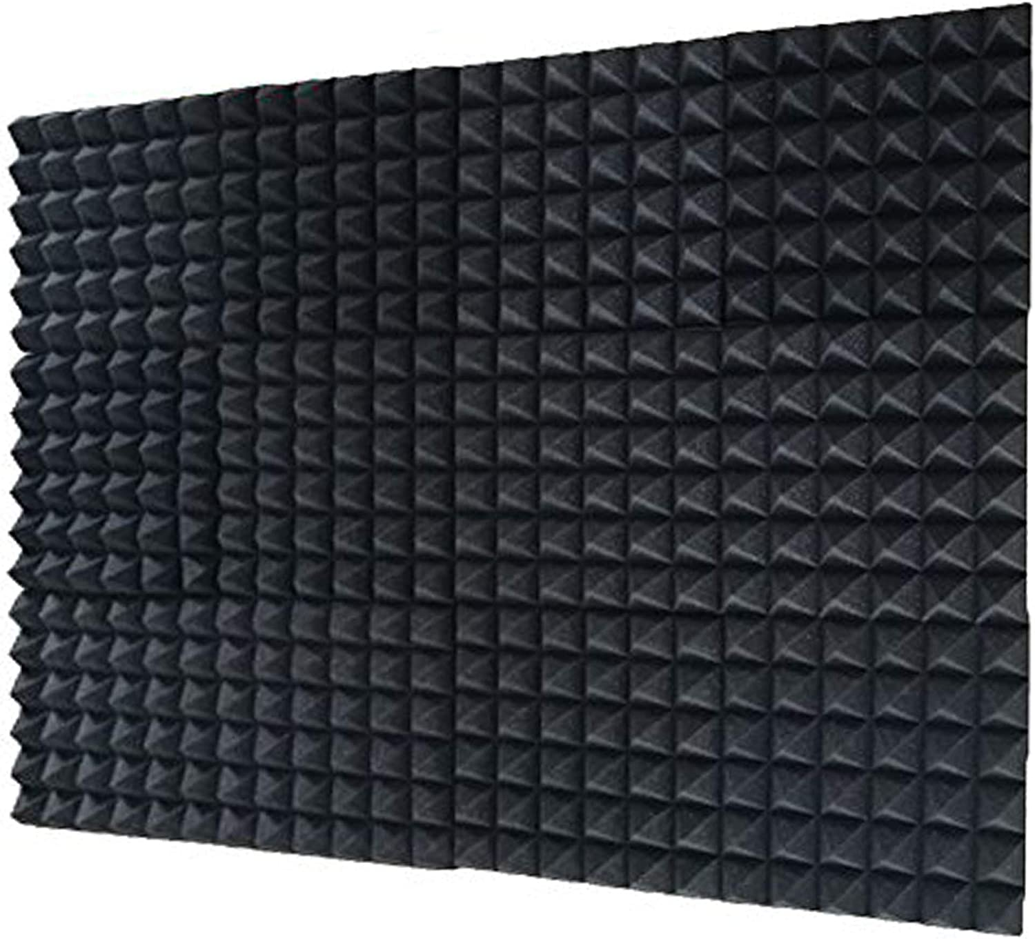 "12 Pack Set Acoustic Foam Panels, Studio Wedge Tiles, 2"" X 12"" X 12"" Acoustic Foam Sound Absorption Pyramid Studio Treatment Wall Panels"