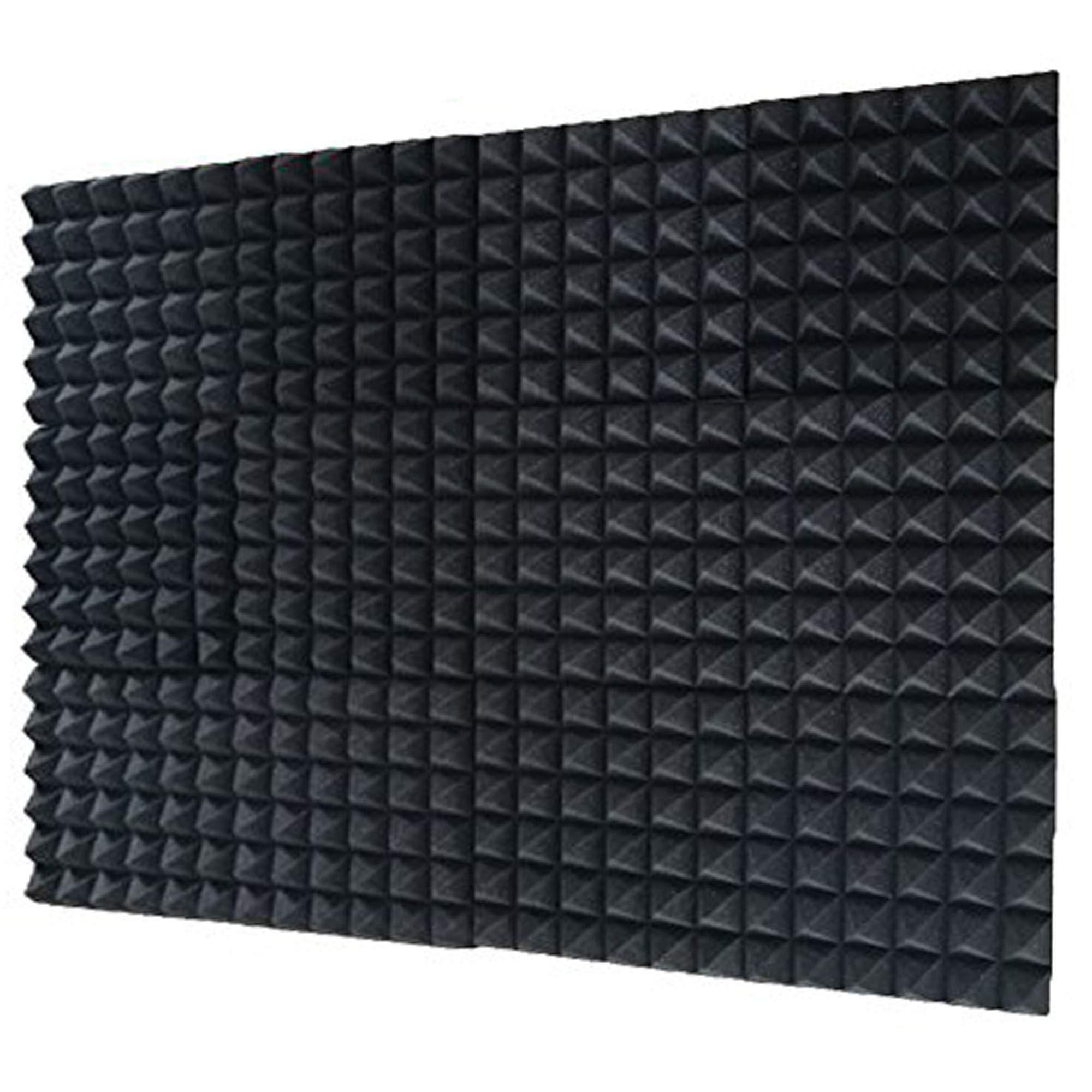 12 Pack Set Acoustic Foam Panels, Studio Wedge Tiles, 2'' X 12'' X 12'' Acoustic Foam Sound Absorption Pyramid Studio Treatment Wall Panels