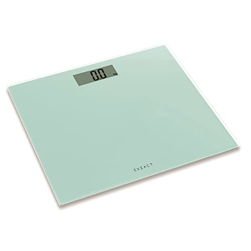 Exzact EX9360 ColorSlim – Digital Bathroom Scale/Electronic Weighing Scale - Ultra Slim 1.7 CM Thickness -150 kg / 330 lb - Color Glass Platform (White)