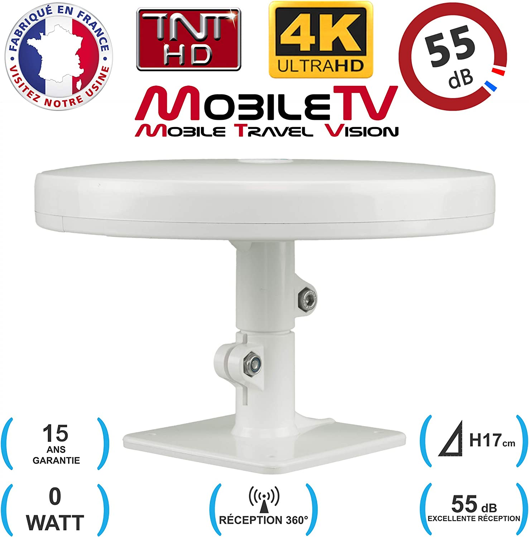 MobileTV - Antena TDT HD 4K para Camping, Coche, Caravana ...