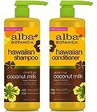 Alba Botanica Hawaiian Coconut Milk Shampoo and Conditioner 32 FL/oz 946 mL