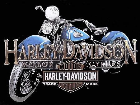 Cartel de Metal de Harley Davidson de la Motocicleta Old ...