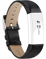 for Fitbit Alta HR Bands/Fitbit Alta Bands, Poy Genuine Leather Replacement Bands with Buckle for Fitbit Alta and Fitbit Alta HR,Black,Red,Pink,Matte Grey