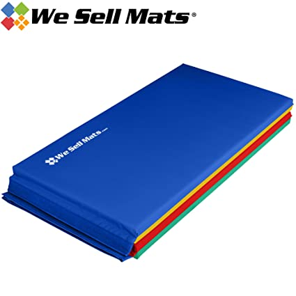 We Sell Mats 2-Inch Thick Gymnastics Tumbling Exercise Folding Martial Arts  Mats with Hook and Loop Fasteners on 4 Side Crosslink PE Foam Core