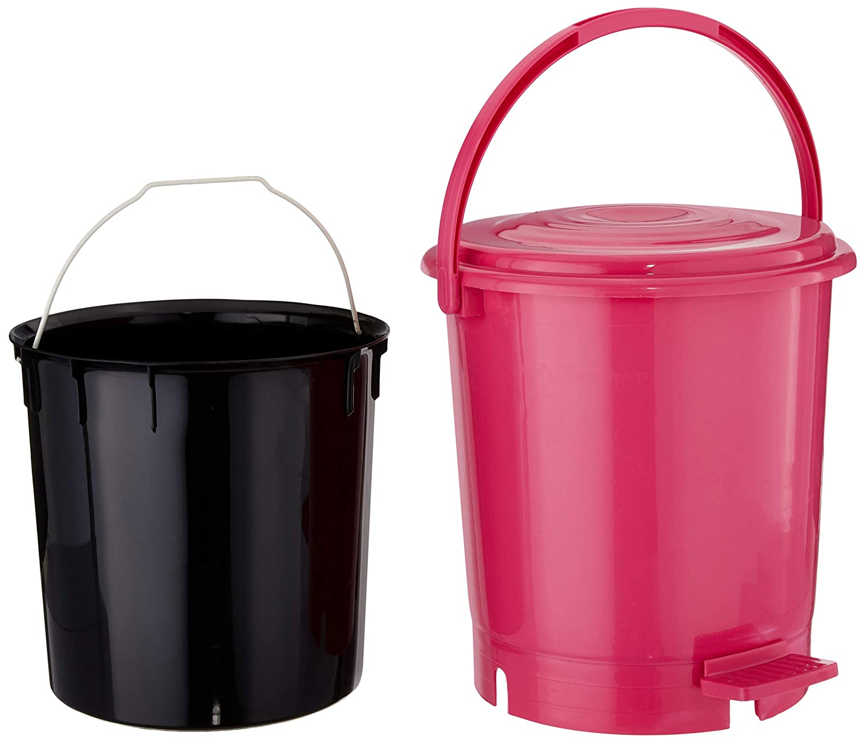 Princeware Plastic Pedal Bins Dustbin, 12 litres (Standard, Assorted)