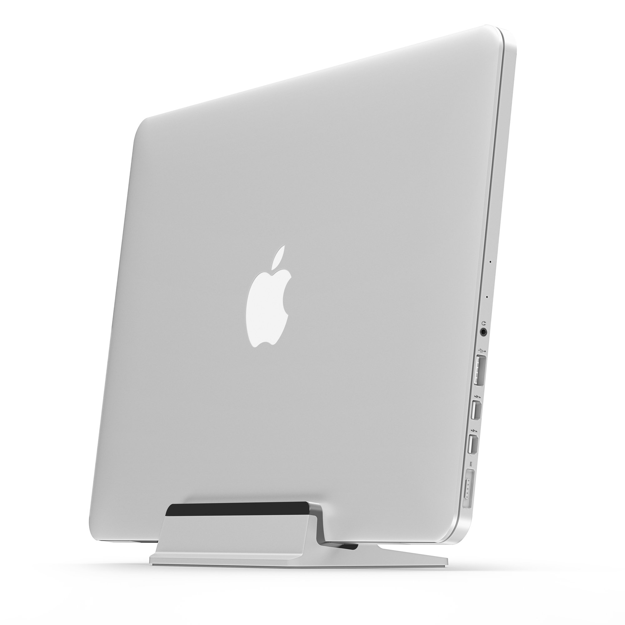 UPPERCASE KRADL Pro Small Profile Aluminum Vertical Stand for Retina MacBook Pro 13'' or 15'' (2012 to 2015 Releases), Silver/Black by UPPERCASE (Image #1)