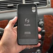 MagBak for iPhone Xs 2nd Gen with 2 MagSticks (Black, iPhone X/XS)