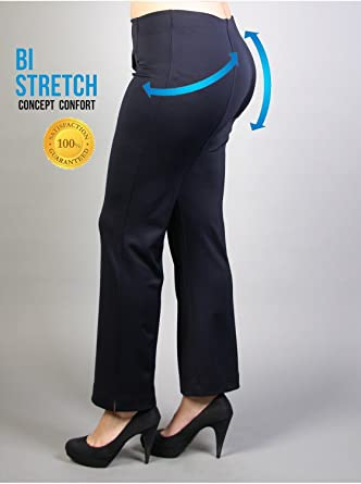 46etplus - Vêtement Femme Grande Taille Pantalon marine gainant droit aceec62cdc4