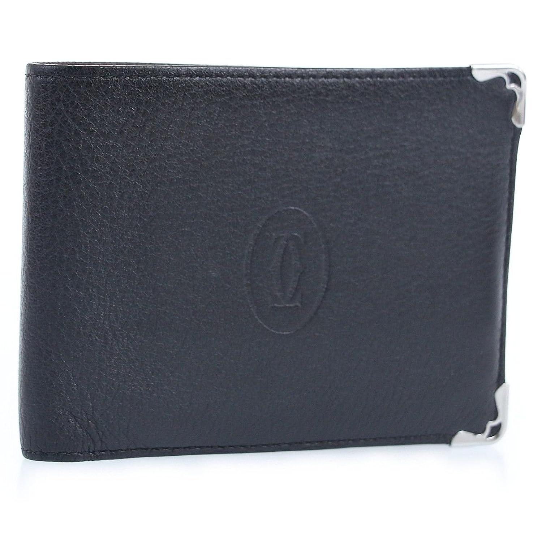 (カルティエ) Cartier マストライン 2つ折り財布 ブラック×ボルドー B07F26FX59  -