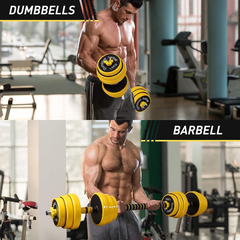 BESPORTBLE 1 Pair Adjustable Dumbbell Set 2 in 1 Dumbbells Barbell ...