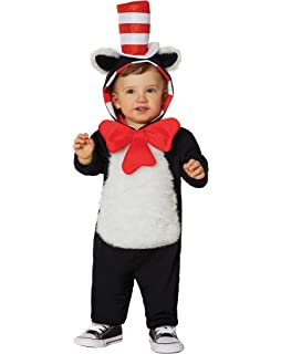 0dd7c65e Amazon.com: Deluxe Cat in the Hat Baby Infant Costume - Infant: Clothing