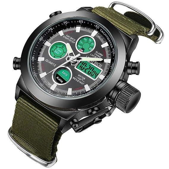 Amazon.com: Reloj deportivo con cuadrante grande para hombre ...