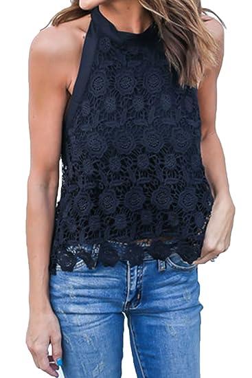 93d16c20af4 Zilcremo Women s Elegant Lace Backless Back Bowknot Fashion T Shirt ...