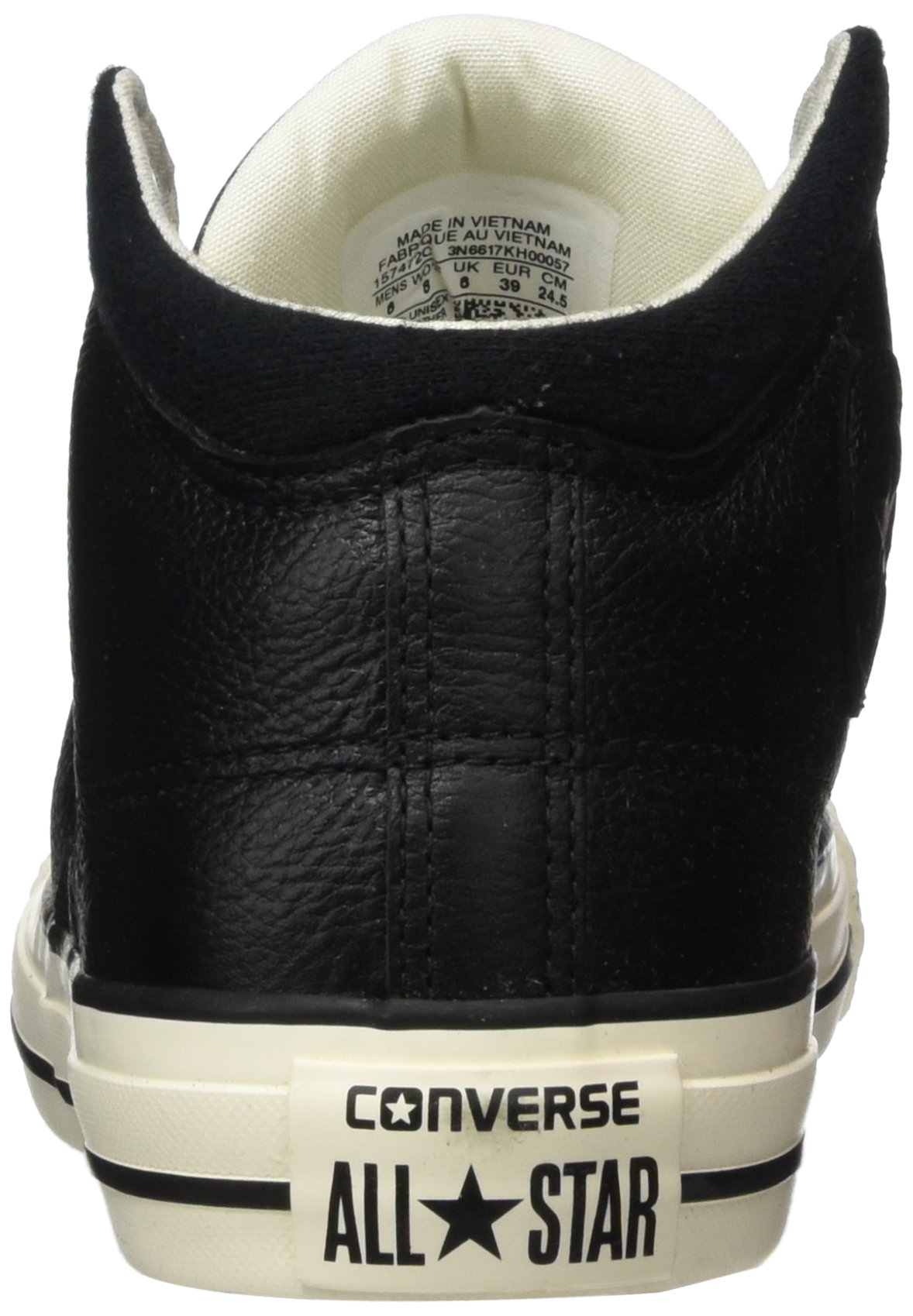 Converse Unisex Chuck Taylor All Star High Street Kurim Mid Sneaker Leather Black 10.5 D(M) US by Converse (Image #2)