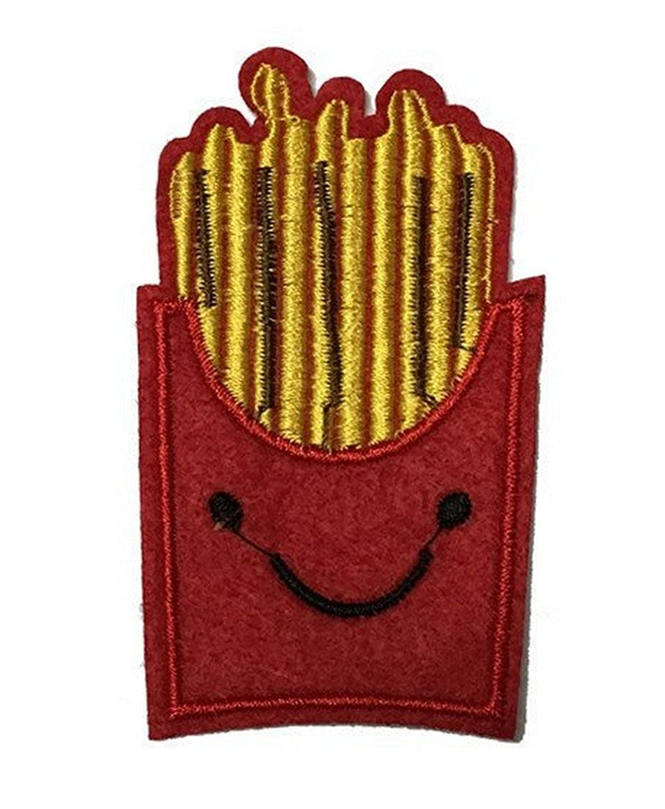 Melie Bianco Cute Fries Embroidered Patch Sticker Applique CH006